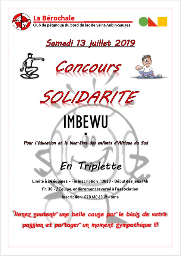 Affiche Concours Imbewu 13.07.19
